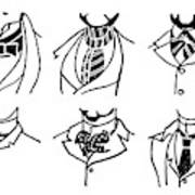 Fashion Cravats And Ties Art Print