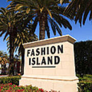 Fashion Island Sign In Orange County California Print by Paul Velgos