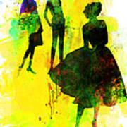 Fashion Models 2 Art Print