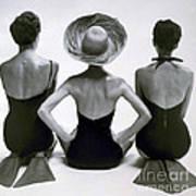 Fashion Models In Swim Suits, 1950 Art Print