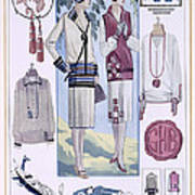 Fashion Plate, From La Femme Chic Art Print