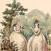Fashion Plate Of Ladies In Summer Day Art Print
