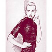 Fashion Sketch 96 Art Print