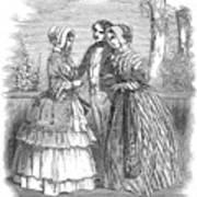 Fashion Women's, 1847 Art Print