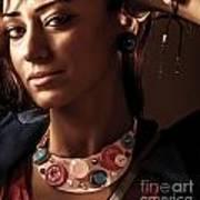 Fashionable Woman Portrait Art Print