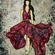 Fashionista Mixed Media Painting By Janelle Nichol Art Print