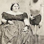 Fat Lady & Thin Man Art Print