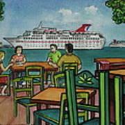 Fat Tuesdays In Cozumel Yucatan Mexico Art Print