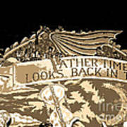 Father Time Looks Back Art Print