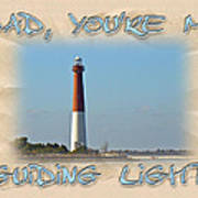 Father's Day Greetingcard - Guiding Light Art Print