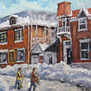 Faubourg A Melasse Montreal - Joys Of Winter By Prankearts Art Print