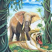 Faune D'afrique Centrale 01 Art Print