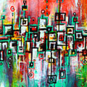Favelas - Abstract Art By Laura Gomez Art Print