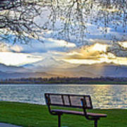 Favorite Bench And Lake View Art Print