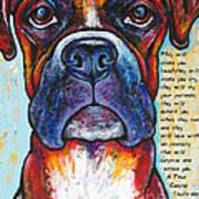 Fawn Boxer Love Art Print