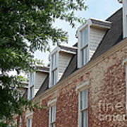 Fayetteville Brick House Art Print by Kevin Croitz