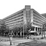 Fbi Building Front View Art Print by Olivier Le Queinec