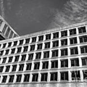 Fbi Building Side View Art Print by Olivier Le Queinec