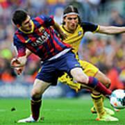 FC Barcelona V Club Atletico De Madrid Art Print