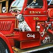 Fdny Chief Art Print