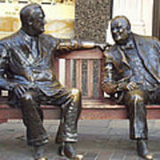 Fdr And Churchill Having A Chat In London Art Print