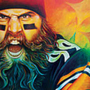 Fear Da Beard Print by Scott Spillman