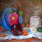 Featured Blue Bowl   Art Print by Nancy Stutes