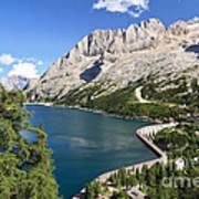 Fedaia Pass With Lake Art Print