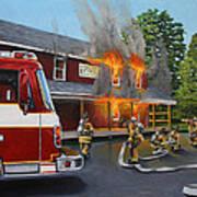 Feed Store Fire Art Print