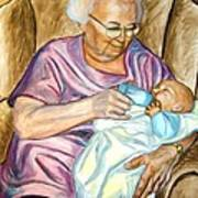 Feeding Baby 1 Art Print