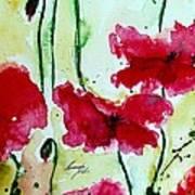 Feel The Summer 2 - Poppies Art Print by Ismeta Gruenwald