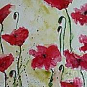 Feel The Summer - Poppies Art Print by Ismeta Gruenwald