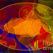 Feeling At Home With Uncertainty Abstract Healing Art Art Print