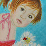 Felisa Little Angel Of Happiness And Luck Art Print