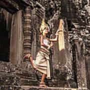 Female Apsara Dancer, Standing On One Art Print