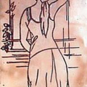 Female Enamel On Copper Art Print