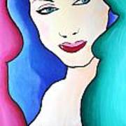 Female Face Shapes And Forms Art Print