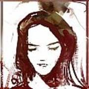 Female Textured Sketch Number 1 Art Print
