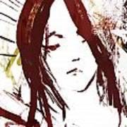 Female Textured Sketch Number 2 Art Print