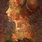 Femme D Automne Art Print