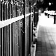 Fence At Eight  Art Print