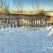 Fence At The Beach In St Augustine Florida Art Print