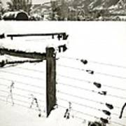 Fence Pulls In Winter Art Print