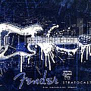 Fender Blueprint Washout Art Print