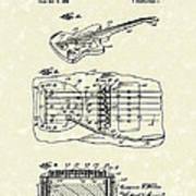 Fender Floating Tremolo 1961 Patent Art Art Print by Prior Art Design