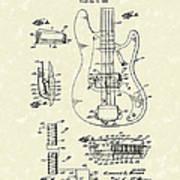 Fender Guitar 1961 Patent Art Art Print
