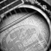Fender Guitar Black And White 2 Art Print