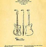 Fender Jazzmaster Guitar Design Patent Art 1959 Art Print