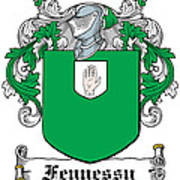 Fennessy Coat Of Arms Irish Art Print