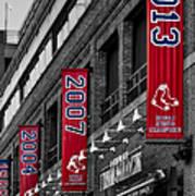 Fenway Boston Red Sox Champions Banners Art Print
